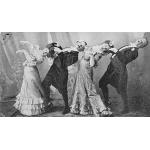 Cartão postal de 1903 com passos do cakewalk